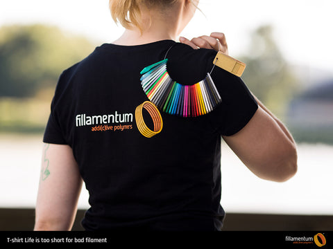 T-shirt Life is too short for bad filament