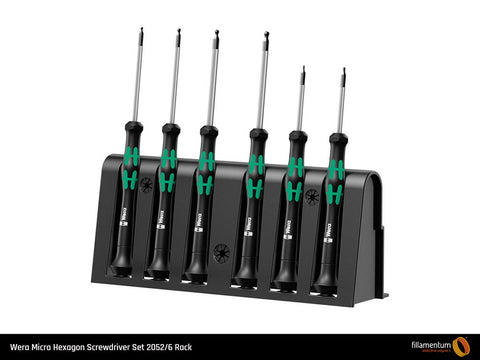 Wera Micro Hexagon Screwdriver Set 2052/6 Rack