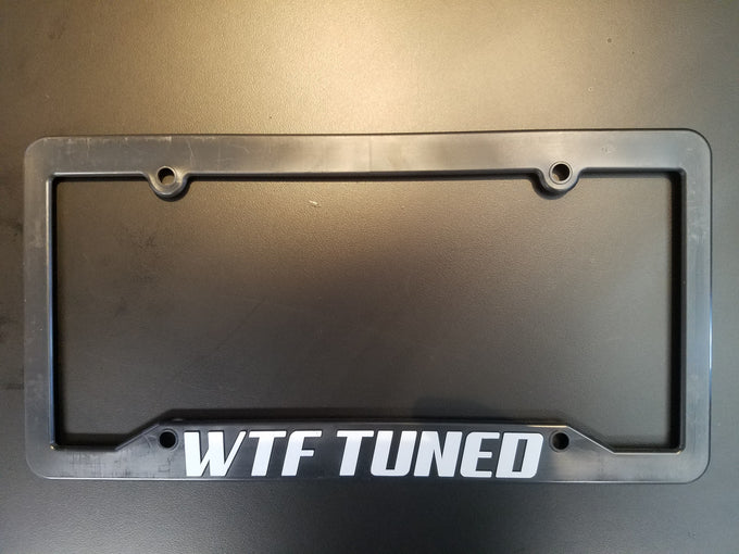 WTF Tuned License Plate Frame
