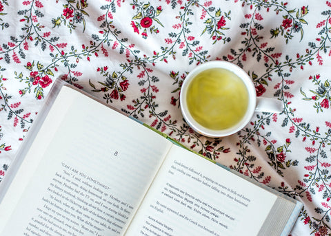 book and ginger tea
