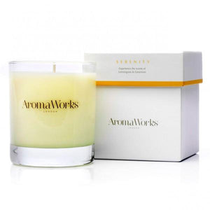 Serenity Candle 30cl Wellbeing Aroma Works