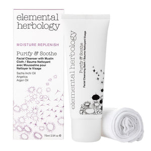Purify & Soothe -Facial Cleansing Balm (with muslin cloth) (75ml) SkinCare Elemental Herbology