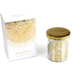 Soleil White Gold Tumbler - ESSENCE OF FLORETS Home Fragrance D.L & Co