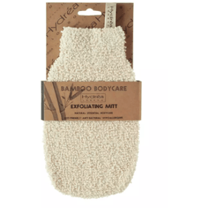 Bamboo Gentle Exfoliation Mitt (Cream) Bath & Body Hydrea