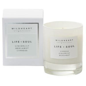 Life & Soul Spa Wick Candle (160G) Home Fragrance Wildheart Organics