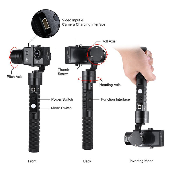 MiView AFI VS-3SG BRUSHLESS HANDHELD GIMBAL CAMERA GYRO STABILIZER