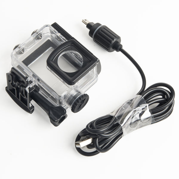 SJcam SJ6 Legend WATER RESISTANT CASE WITH CAR CHARGER FOR MOTORCYCLE