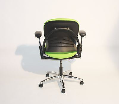 Steelcase Leap V1 Chair New Lime Green Fabric  aluminium base