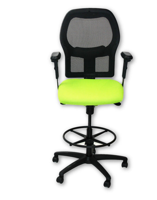 Ahrend 160 Type Draughtsman chair Green seat  Black base
