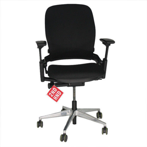 Steelcase Leap V2 New Black Fabric Height adjustable arms