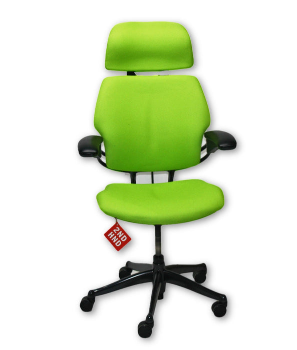 Humanscale Freedom Hi Back Chair   New Green fabric