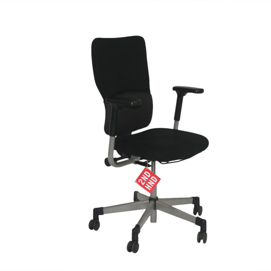 Steelcase Lets B Hi Back Task Chair with Arms ( Original Black Fabric)