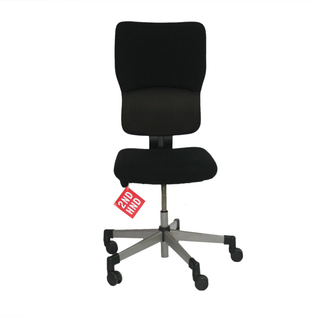 steelcase lets b hi back task chair no arms in black