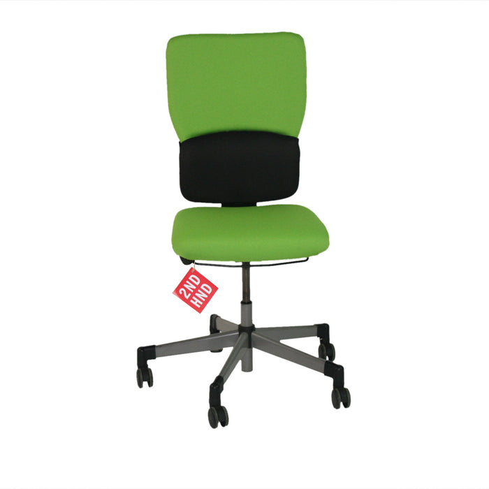 Steelcase Lets B Hi Back Task Chair No Arms ( New Green Fabric)