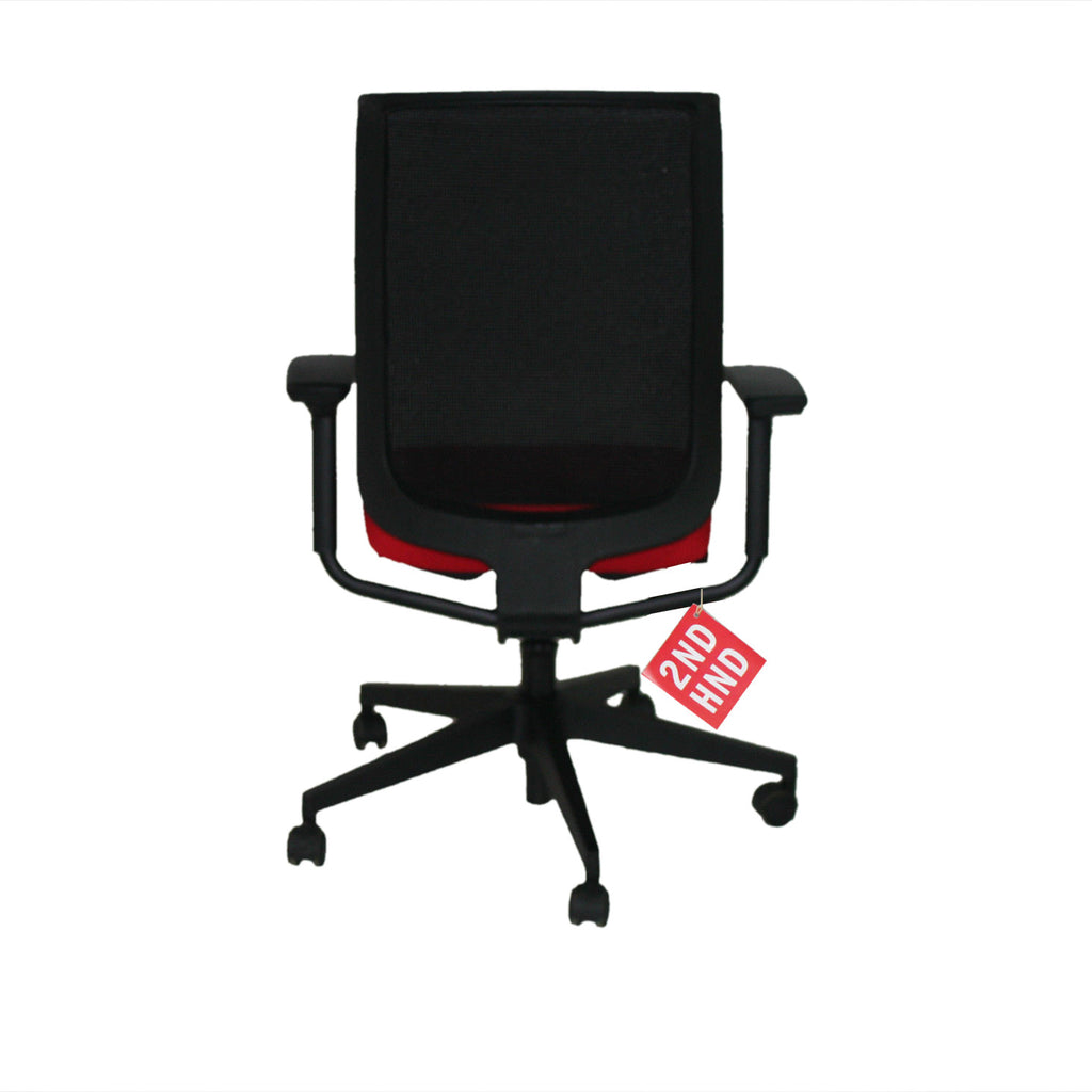 Steelcase Reply Task Chair Red New Fabric ( Black Base )