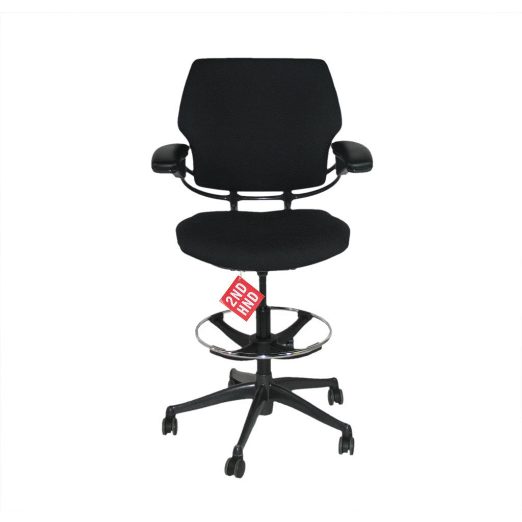Humanscale Freedom MED Back Draughtsman Chair New Black Fabric