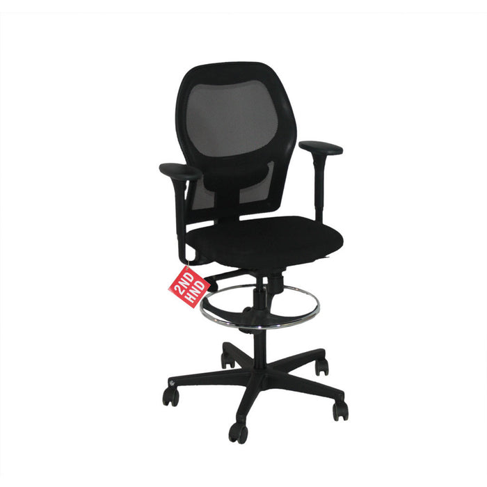 Ahrend 160 Task Chair Mesh Back Draftsman Chair