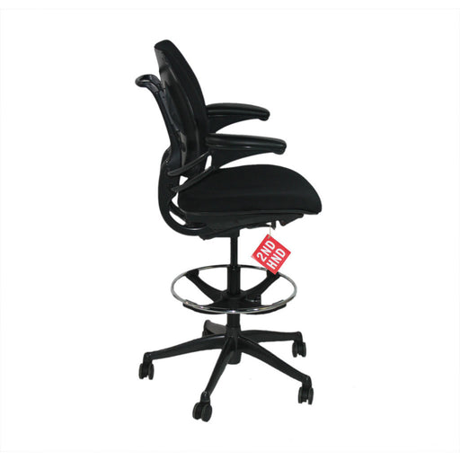 Humanscale Chaise Freedom MED Back Draftsman Nouveau tissu noir