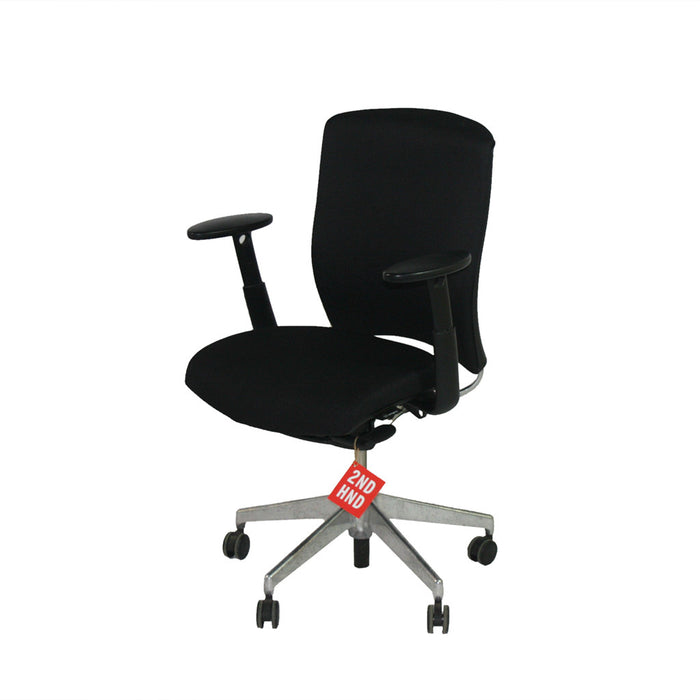 Enigma S21 Aluminium Frames New Black Fabric Task Chair