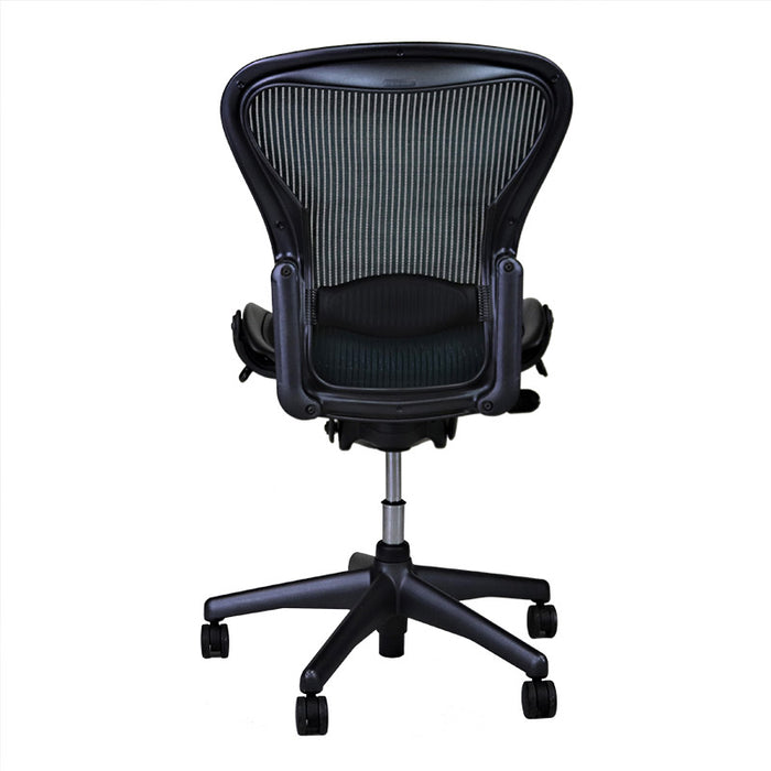 Herman Miller Aeron Chair Size B with Green Mesh and No Arms