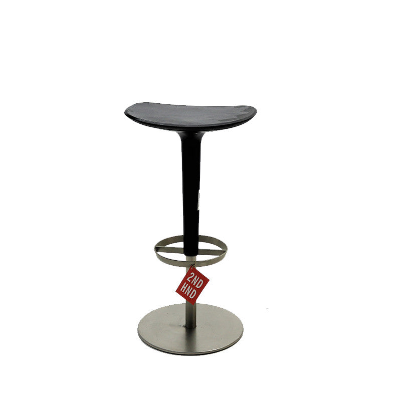 Babar Bar Stool - Black Column - Black Seat
