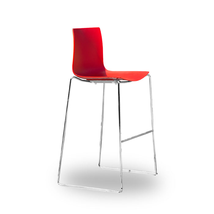 Wondrous Arper Catifa 46 Bar Stool Red Caraccident5 Cool Chair Designs And Ideas Caraccident5Info