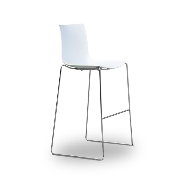 Brilliant Arper Catifa 46 Bar Stool White Caraccident5 Cool Chair Designs And Ideas Caraccident5Info