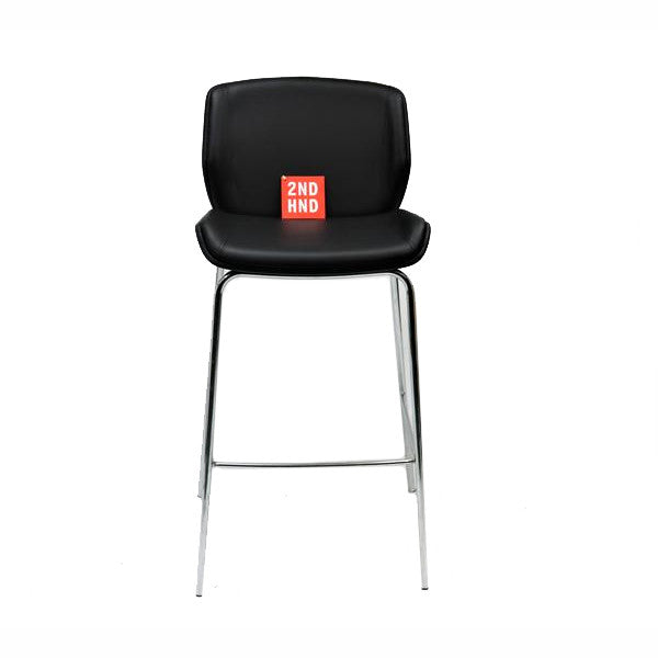 Boss Design Kruze Bar stools New  Black Leather