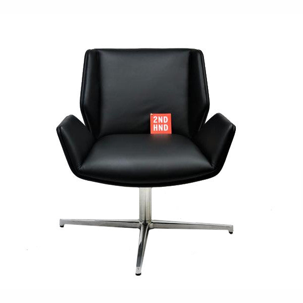 Boss Design Kruze Chair New  Black Leather