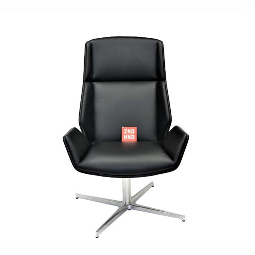 Boss Design Kruze Chair New Black Leather Hiback