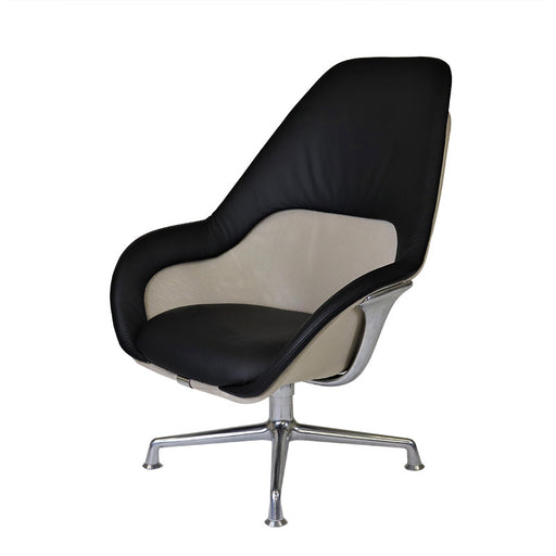 Steelcase Coalesse SW_1 Lounge Seating in Black Leather