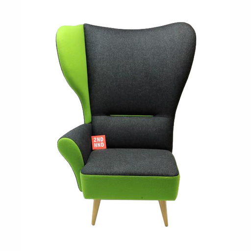 Davidson Highley CRISTIANA WINGCHAIRS Gris avec garniture verte