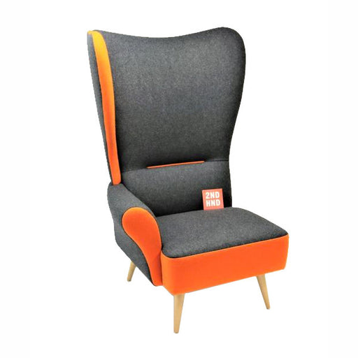 Davidson Highley CRISTIANA WINGCHAIRS Gris avec garniture orange