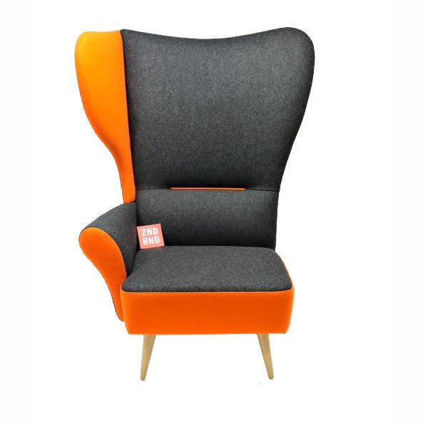 Davidson Highley CRISTIANA WINGCHAIRS Grey with Orange trim