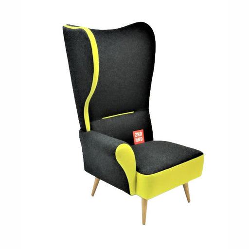 Davidson Highley CRISTIANA WINGCHAIRS Gris avec garniture jaune