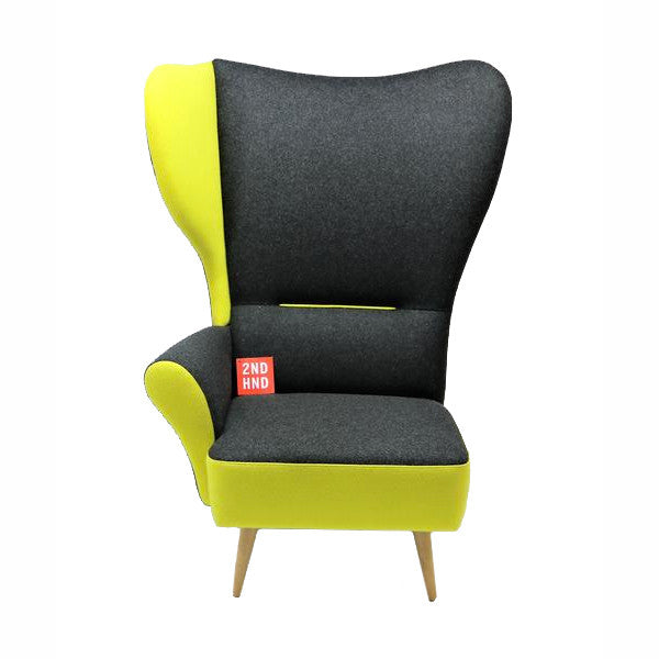 Davidson Highley CRISTIANA WINGCHAIRS Grey with Yellow trim