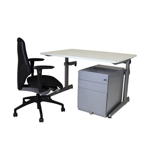 Ahrend Height Adjustable Desk + Giroflex G64 + Herman Miller Pedestal