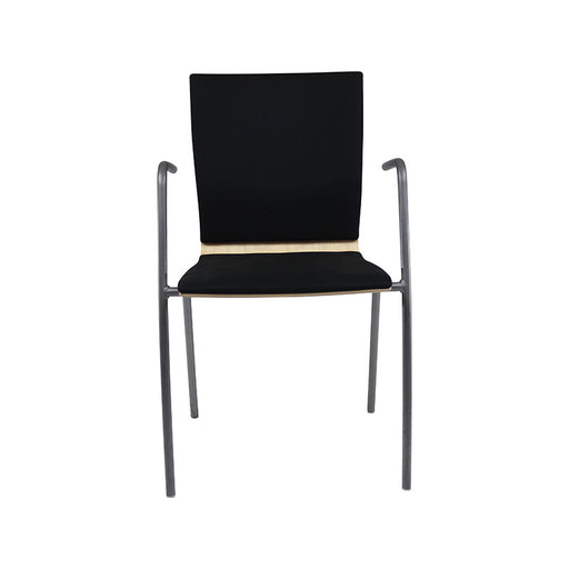 EFG Stackable Meeting Chair in Black Fabric