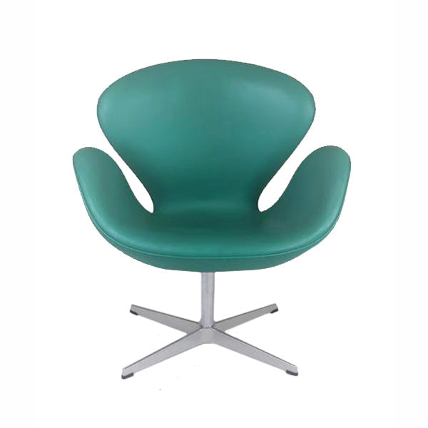 Fritz Hansen Swan Chair ( Turquoise Leather)