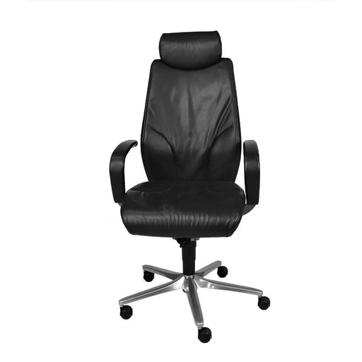 Giroflex G64 Managerial Chair with Headrest - Black Leather