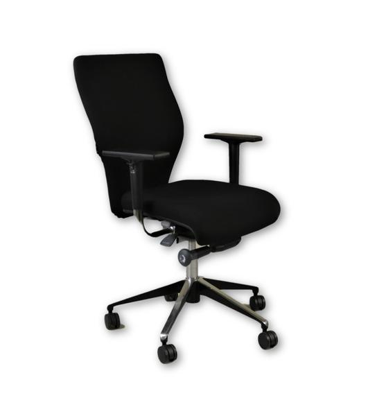 Giroflex X10 Task Chair Recovered in Black Fabric