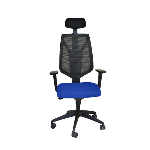 Global 1966 Task Chair with Headrest & Blue Seat ( New Chair)