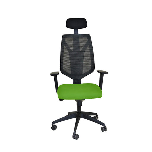 Global 1966 Task Chair with Headrest & Green Seat ( New Chair)