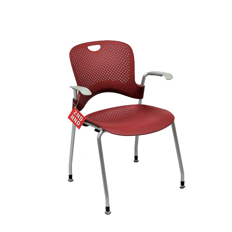 Herman Miller Caper Stacking Burg Arm Chair