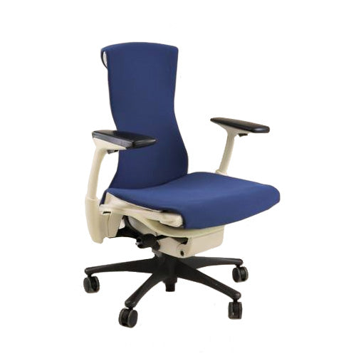 Herman Miller - Embody Task Chair Recovered New Blue Fabric u2014 2ndhnd.com - Quality Office Furniture  sc 1 st  2ndhnd.com & Herman Miller - Embody Task Chair Recovered New Blue Fabric u2014 2ndhnd ...