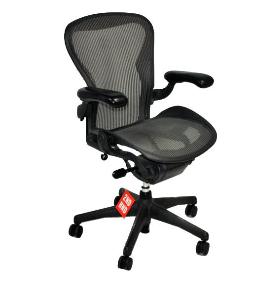 Herman Miller Aeron Chair Size B Classic Dark Grey Weave