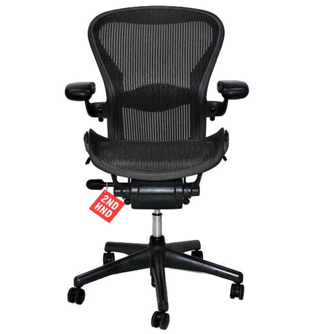 herman miller aeron chair size b fully refurbished with new seat and back