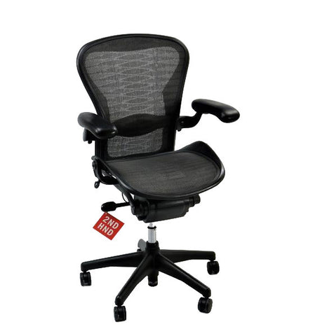 Humanscale Freedom Hi Back Chair with Black Leather and  Headrest
