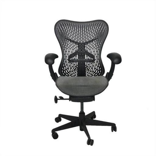 Herman Miller Mirra TriFlex Office Designer Chair Dark with Grey Seat and Grey Backs