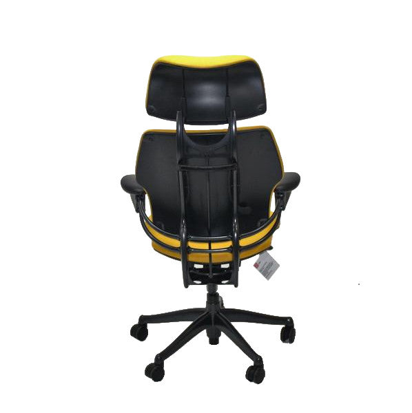 Humanscale Freedom Hi Back Chair with Yellow with Headrest